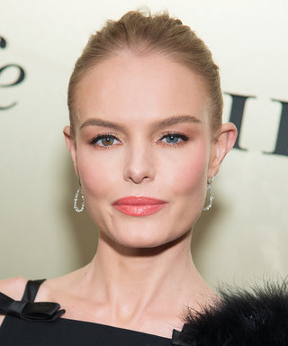 Kate Bosworth Rocks an Artful Black and White Hugo Boss Dress in N.Y.C.
