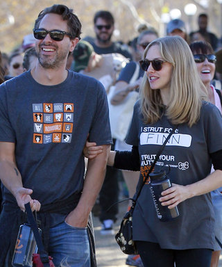 Amanda Seyfried Struts Her Mutt at an L.A. Fundraiser with Her Fiancé