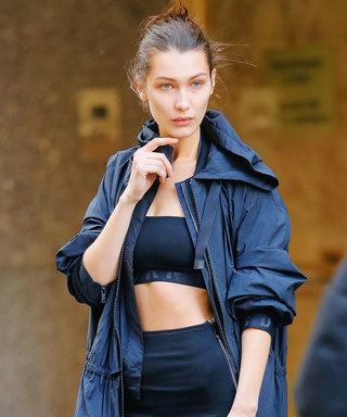 Bella Hadid Braves the N.Y.C. Chill in a Bandeau and Tube Skirt