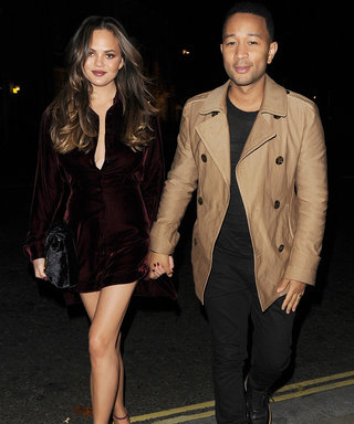 Chrissy Teigen's Sexy Velvet Minidress Is What Our Fall Fashion Dreams Are Made of