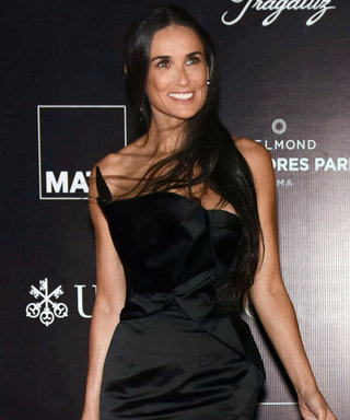 Demi Moore Wows in a Revealing High-Slit Black Gown at Peruvian Charity Gala