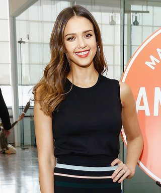 Jessica Alba Stuns in Stripes Alongside Her Look-Alike Mom