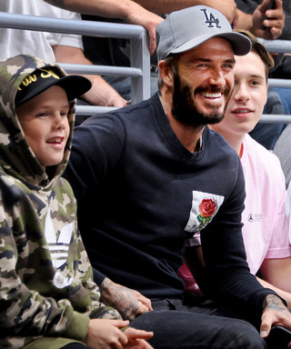 David Beckham Bonds with All Three Sons at an L.A. Hockey Game