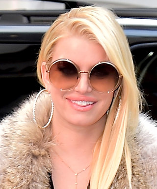 Jessica Simpson Shows Off Her Curves in a Sheer Top and Black Leather Pants in N.Y.C.