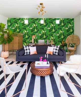 Home Tour: A Pool House Turned Office Where Bolder Is Better