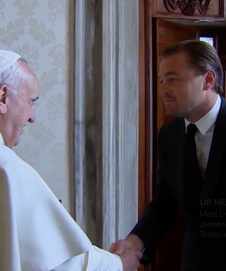 Leonardo DiCaprio Talks Global Warming with Pope Francis—in Italian!—for His Documentary, Before the Flood
