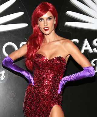 Alessandra Ambrosio Is a Very Convincing Jessica Rabbit for Halloween Party