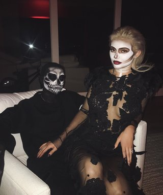 "Kylie Jenner Is a Sexy Contoured Skeleton at Her Spooky ""Dead Dinner"""