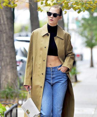 Karlie Kloss Braves the Chilly N.Y.C. Weather in Ab-tastic Crop Top