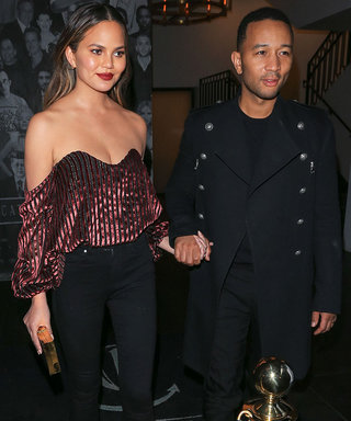 Chrissy Teigen Wows in Sparkly Red Top at Kris Jenner's Birthday Dinner