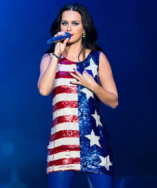 Katy Perry Is Totally Patriotic in a Sparkly Flag Dress