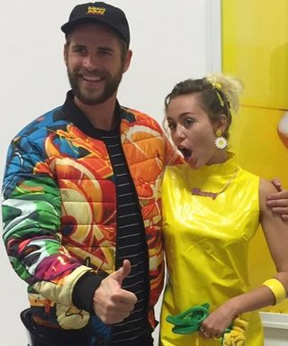 Miley Cyrus Beams in Vinyl Dress with Love Liam Hemsworth