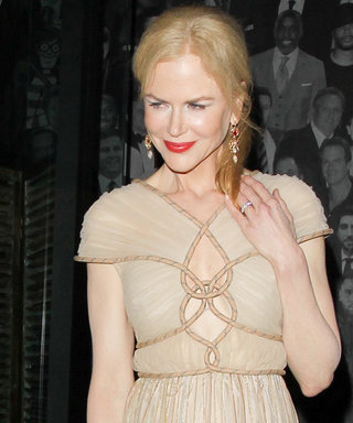 Nicole Kidman Stuns in Glamorous Nude Gown While Out to Dinner