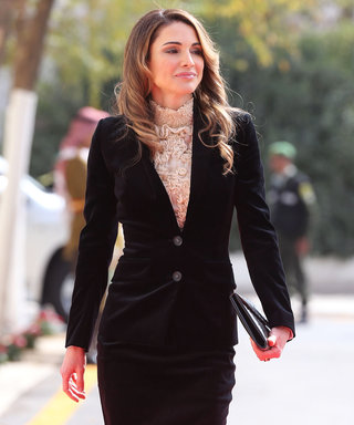 Queen Rania of Jordan Demos the Royal Way to Wear Velvet This Season