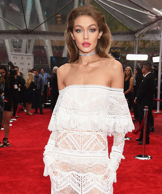 Gigi Hadid's Sheer Lace AMAs Red Carpet Gown Is Even Better from Behind