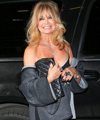 Goldie Hawn Sizzles in Sexy Dress for Birthday Dinner with Kurt Russell
