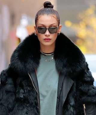 Bella Hadid Braves the Chilly N.Y.C. Weather Sans Pants