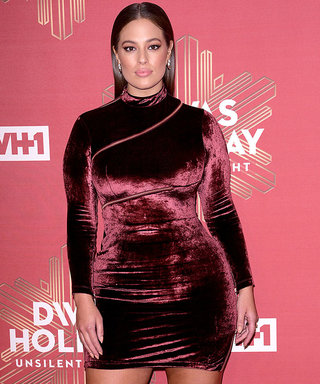 Ashley Graham's Red Velvet Dress Is the Perfect Holiday Outfit