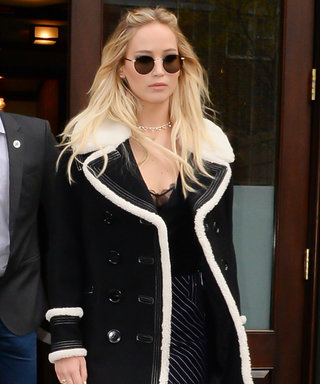 Jennifer Lawrence Puts Her Legs on Display in Chic Mini Skirt
