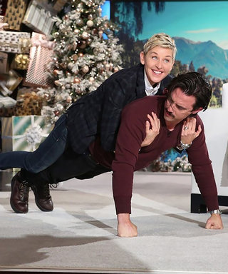 Watch Milo Do Push-Ups with Ellen on His Back