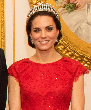 Kate Middleton Dazzles in Festive Red Gown and Princess Diana's Tiara