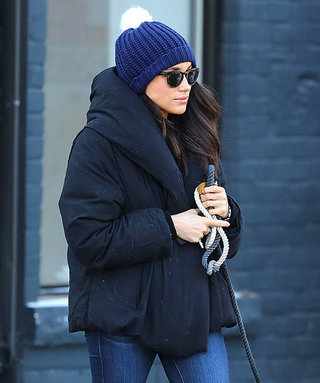 Meghan Markle Bundles Up in Toronto for Dog Walk