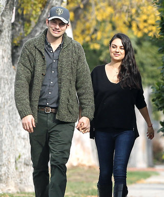 Mila Kunis and Ashton Kutcher Are Too Cute on First Post-Baby Outing
