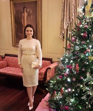 See Sophia Bush Get Festive at the White House Christmas Party