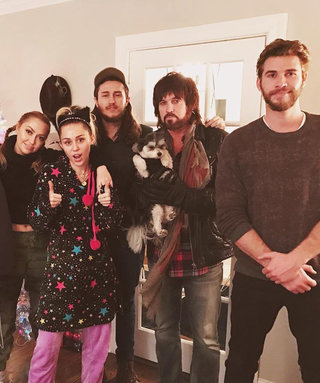 """Christmas in Full Swing"" for Liam Hemsworth and the Cyrus Clan"