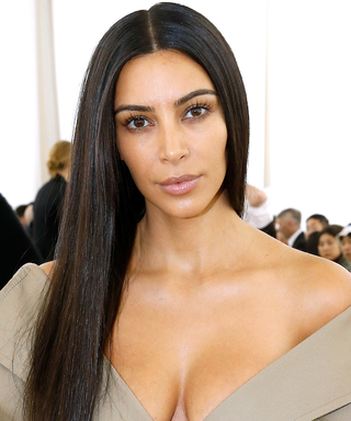 Kim K Joins Mom's Christmas Bash in a Look We've Never Seen Before