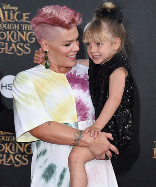 Pink's Daughter Rocks Pink Hair as She Holds Her Baby Brother