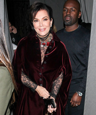 Kris Jenner Finds Her Super Momager Uniform in a Sexy Plush Cape