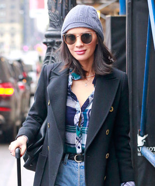 Ripped Tights & Frigid Temps Can't Stop Olivia Munn from Looking Sexy
