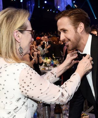 Meryl Streep Fixed Ryan Gosling's Bow Tie and It's Too Much