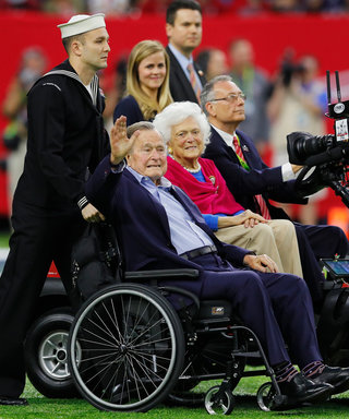 President George H.W. Bush & Barbara Do SB Coin Toss, Crowd Goes Wild