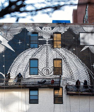 Gucci Just Went Really Old School with Its NYFW Mural