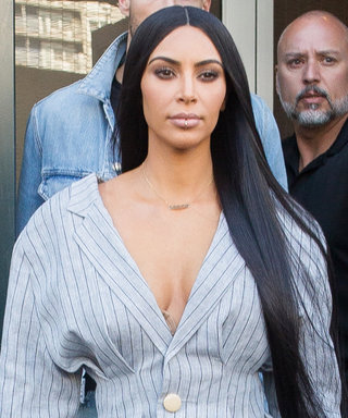 Kim Kardashian West Wears Nothing But a Blazer and Boots in Chilly N.Y.C.