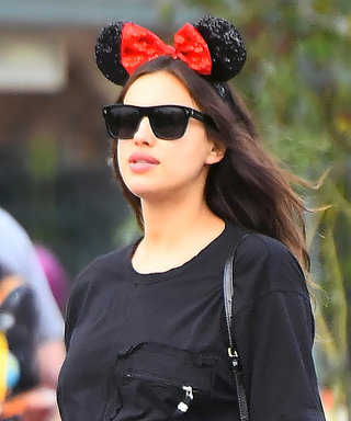 Pregnant Irina Shayk Hits Up Disneyland without Bradley Cooper