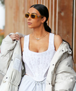 Kim Kardashian West Gets Casual in a Puffer Coat and Sweats