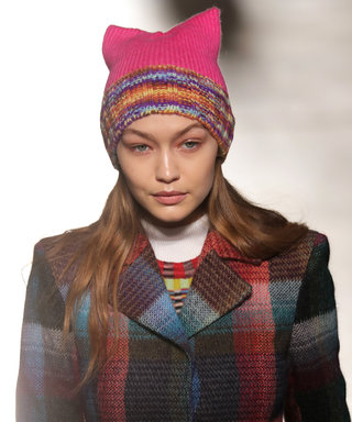 "Gigi Hadid Rocked Pink ""Pussy Hat"" on Missoni Runway"