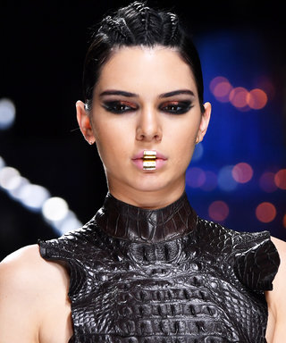 Kendall Jenner And The Balmain Army Made A Case For Gold Lip Jewellery