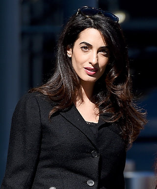 Amal Clooney Demos How to Perfectly Pull Off a Skirt Suit While Pregnant