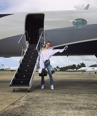 Bella Hadid Jets to Jamaica With Girlfriends