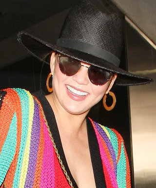 Chrissy's Colorful Cardigan Has Us Rummaging for Brights