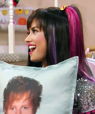 Demi Lovato Makes Out with an Ed Sheeran Pillow—and We're Shipping It
