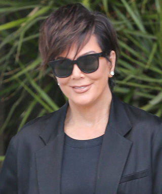 Kris Jenner Makes Her Outfit Pop with Hot Pink Gucci Mules