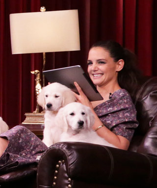 "Watch Katie Holmes Drown in a Sea of Puppies Playing ""Pup Quiz"""