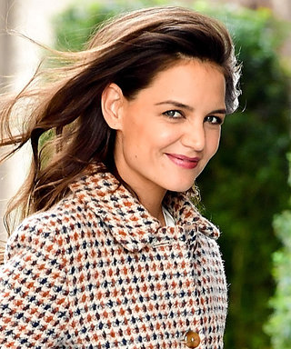 Katie Holmes's Houndstooth Coat Goes with Literally Everything