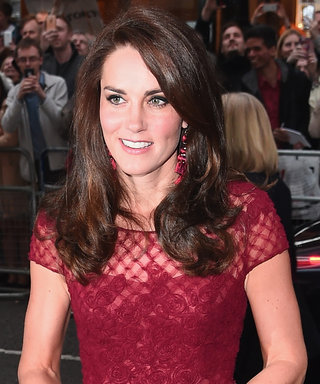 Kate Middleton Stops Traffic in a Red Hot Marchesa Dress