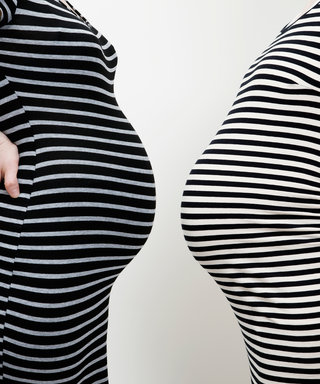 You'll Flip Over Pics of This Mom Pregnant with Twins vs. Just One Baby